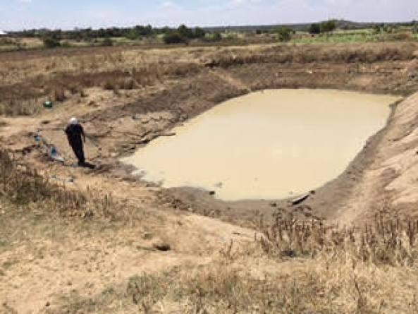African village water supply