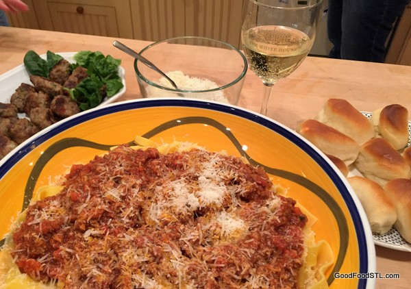 Bolognese sauce pappadelle