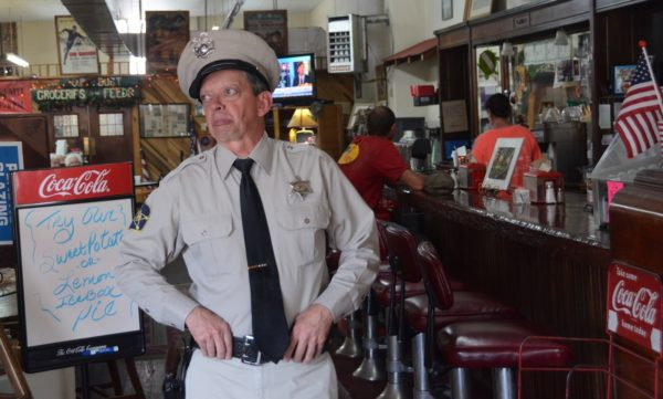 Barney Fife in Mayberry diner