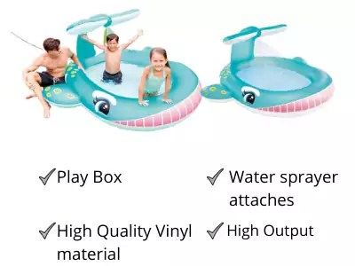 Intex Whale Spray water Pool best Bath tub for kids