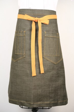 The trendy and tough Grenade Apron. Photo courtesy of Lost Car Chef Apparel.