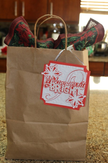 Last year's Bloody Mary Bags. I even made the cute hang tag with my Cricut!