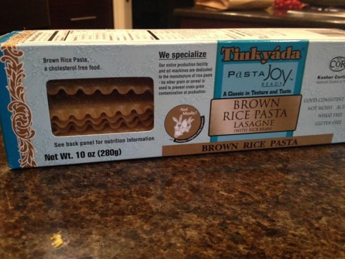 Tinkyaya gluten free lasagna noodles