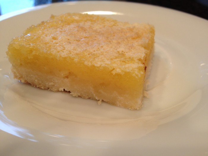 Gluten free lemon bar slice