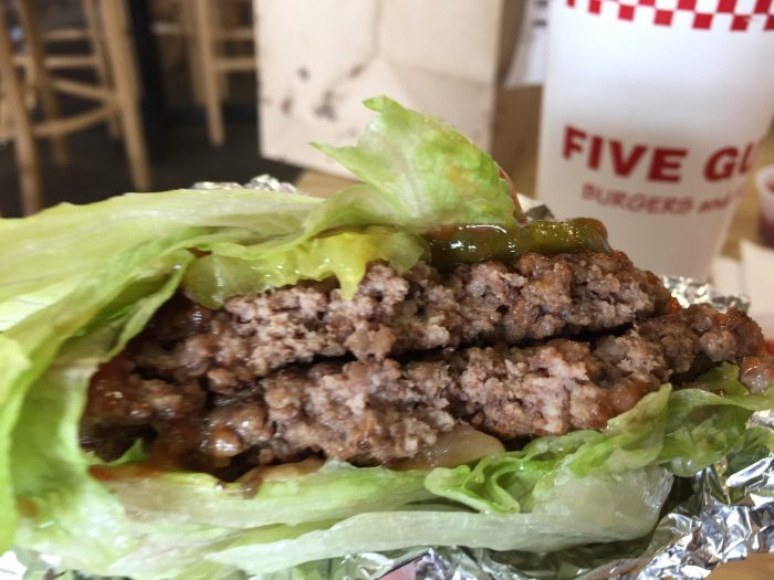 Five Guys gluten-free burger