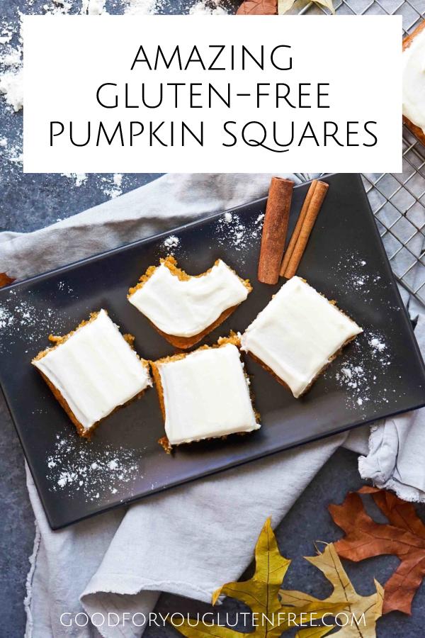 Amazing Gluten-Free Pumpkin Squares Recipe Pin image 2