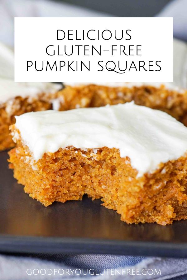 Delicious Gluten-Free Pumpkin Squares Recipe Pin image 1
