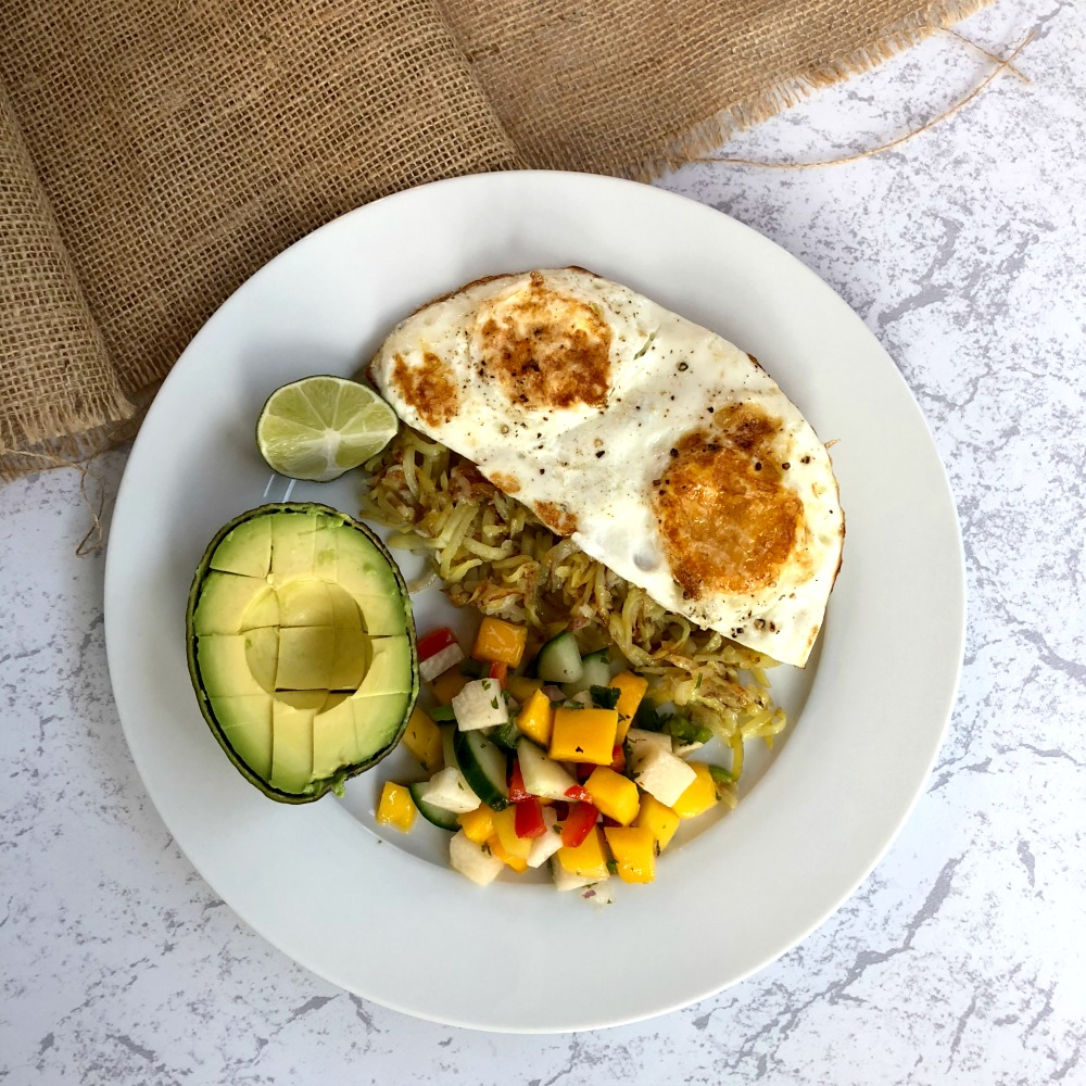 Mango Salsa with eggs