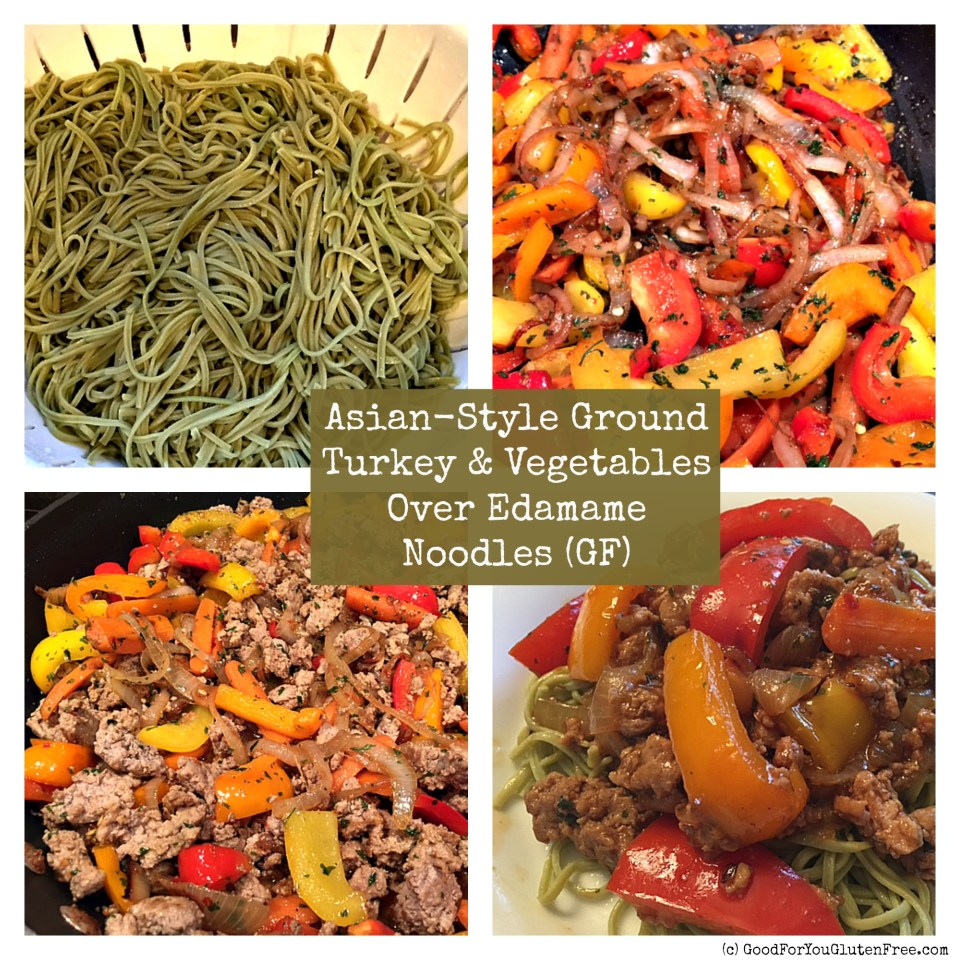 Asian Ground Turkey Gluten-Free recipe with Edamame Noodles