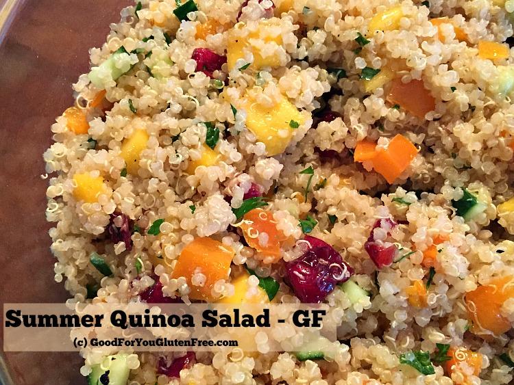 Gluten Free Summer Quinoa Salad