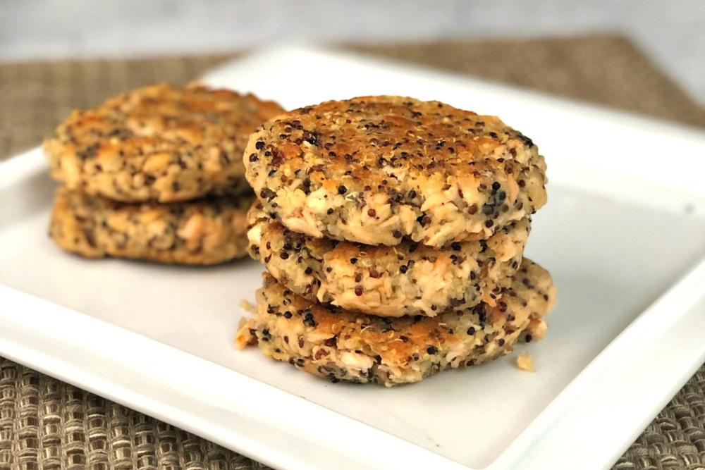 Gluten-Free Salmon Quinoa Burger Recipe