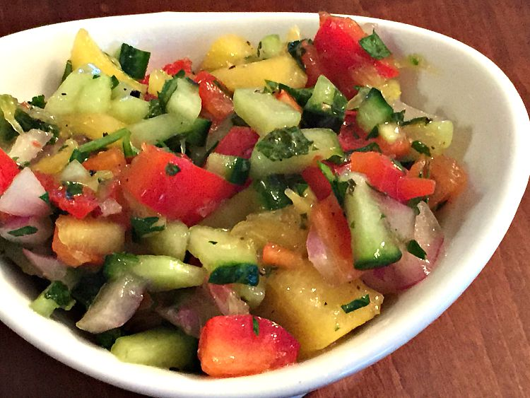 How to Make Israeli Salad (Gluten Free Recipe)