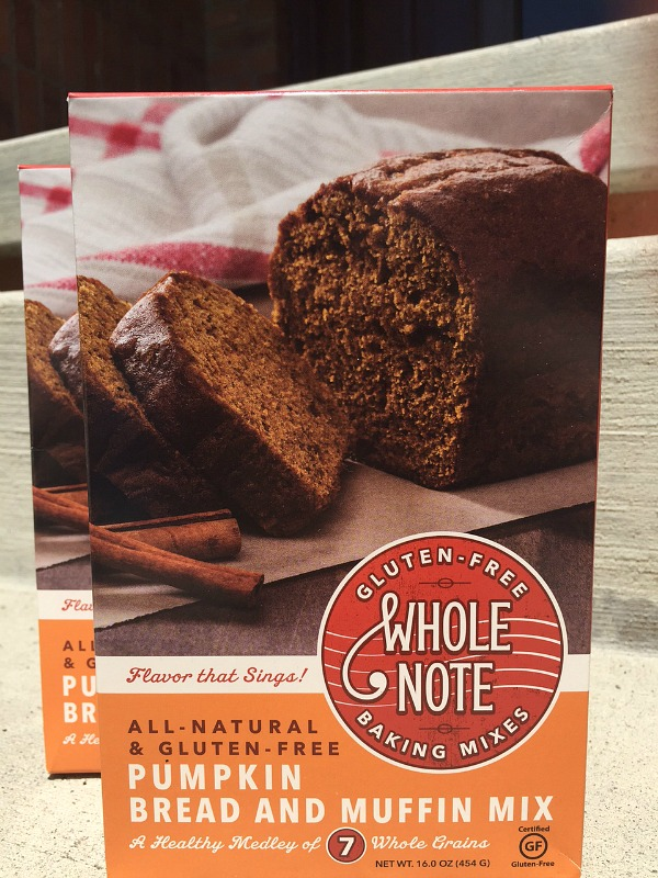 Whole Note Gluten Free Pumpkin Bread mixes
