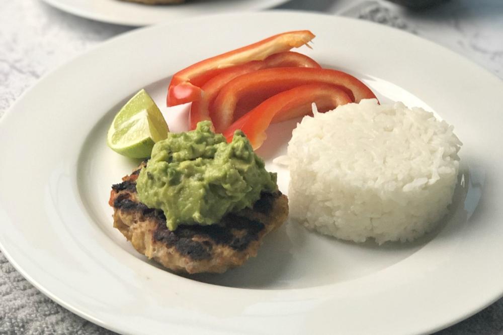 Bunless Gluten-Free Chipotle Turkey Burgers - header