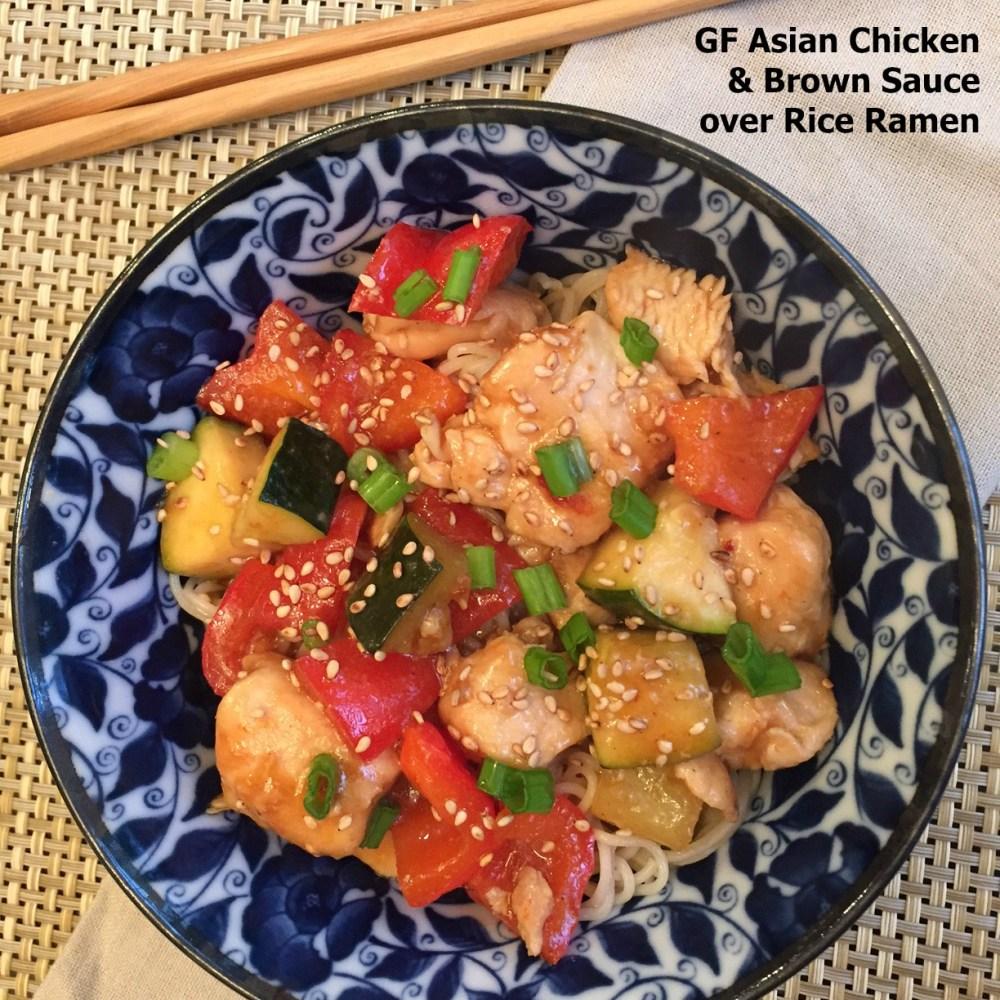 Gluten Free Chicken with Chinese Brown Sauce