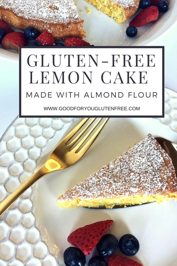 Gluten-Free Lemon Cake with Almond Flour - graphic