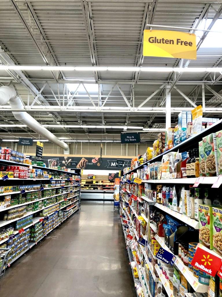 Gluten-Free sign at Walmart