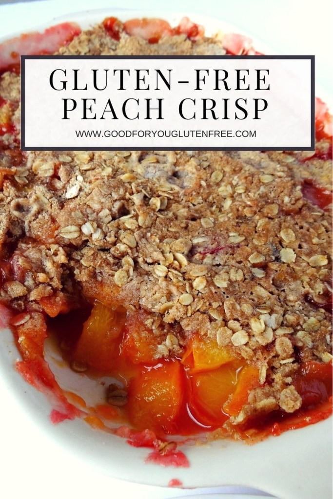 Gluten-Free Peach Crisp dessert recipe