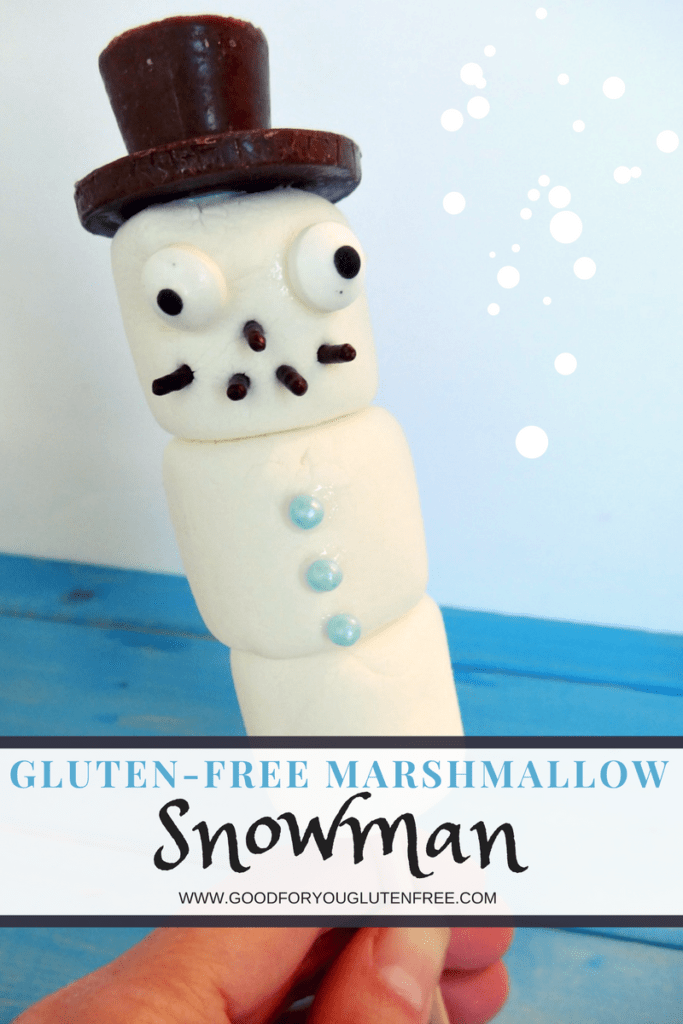 Gluten-Free Marshmallow Snowman Edible Craft