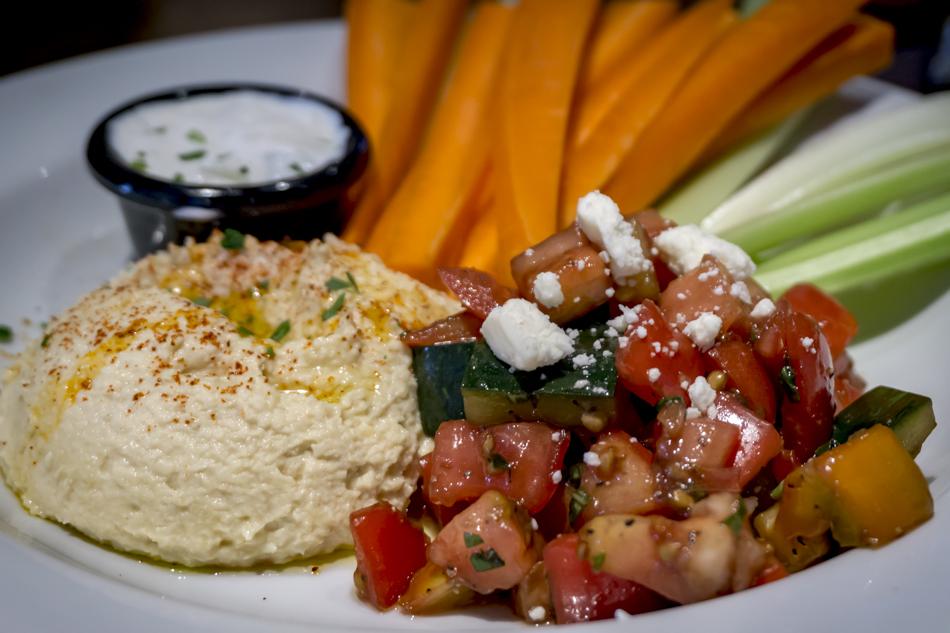Hummus plate at Rusty Bucket