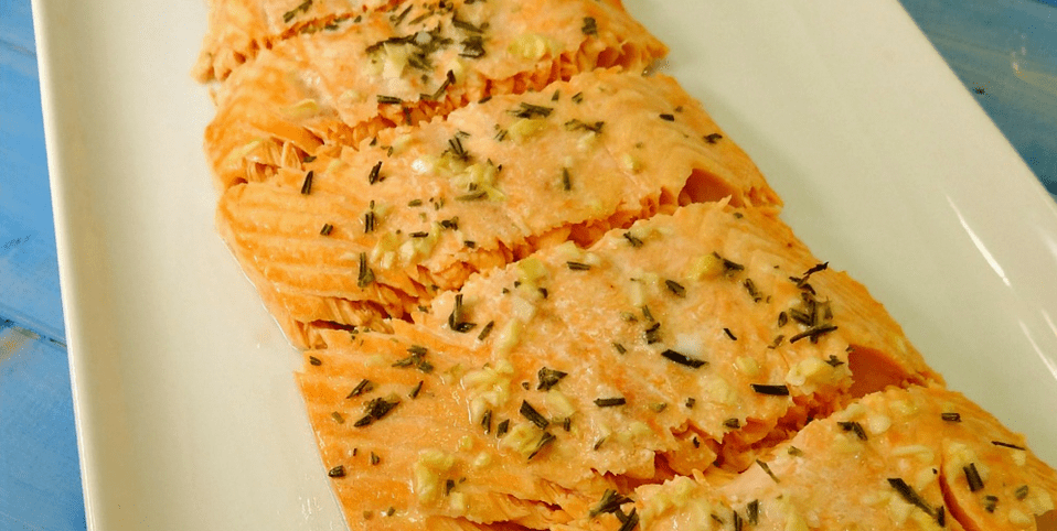 Gluten-Free Baked Salmon with Garlic Butter Seasonings