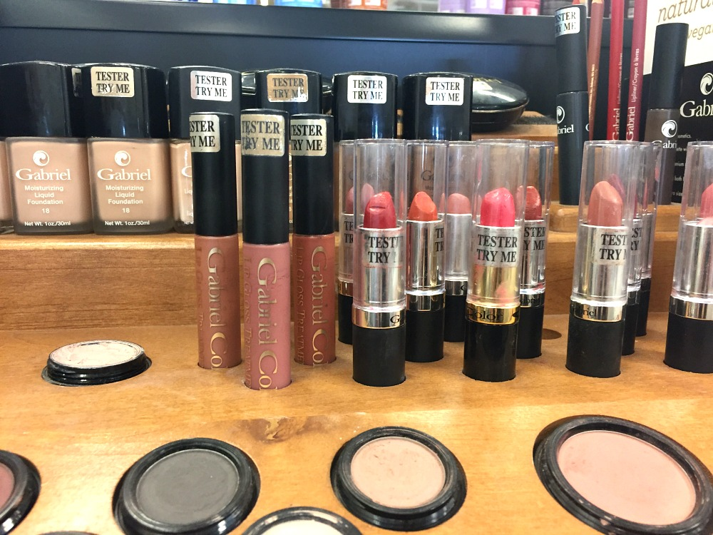 Gabriel Cosmetics Display at Sprouts