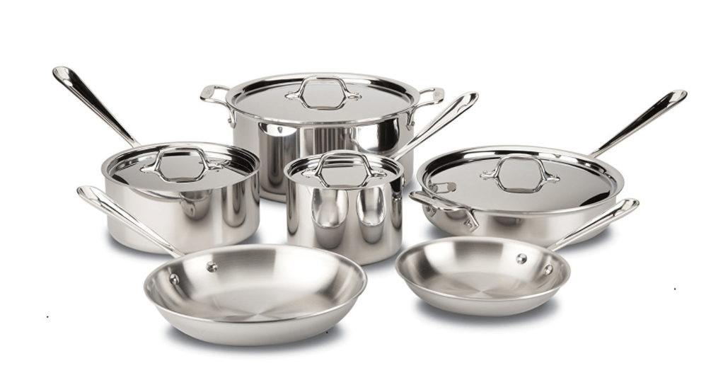 All Clad stainless steel pots