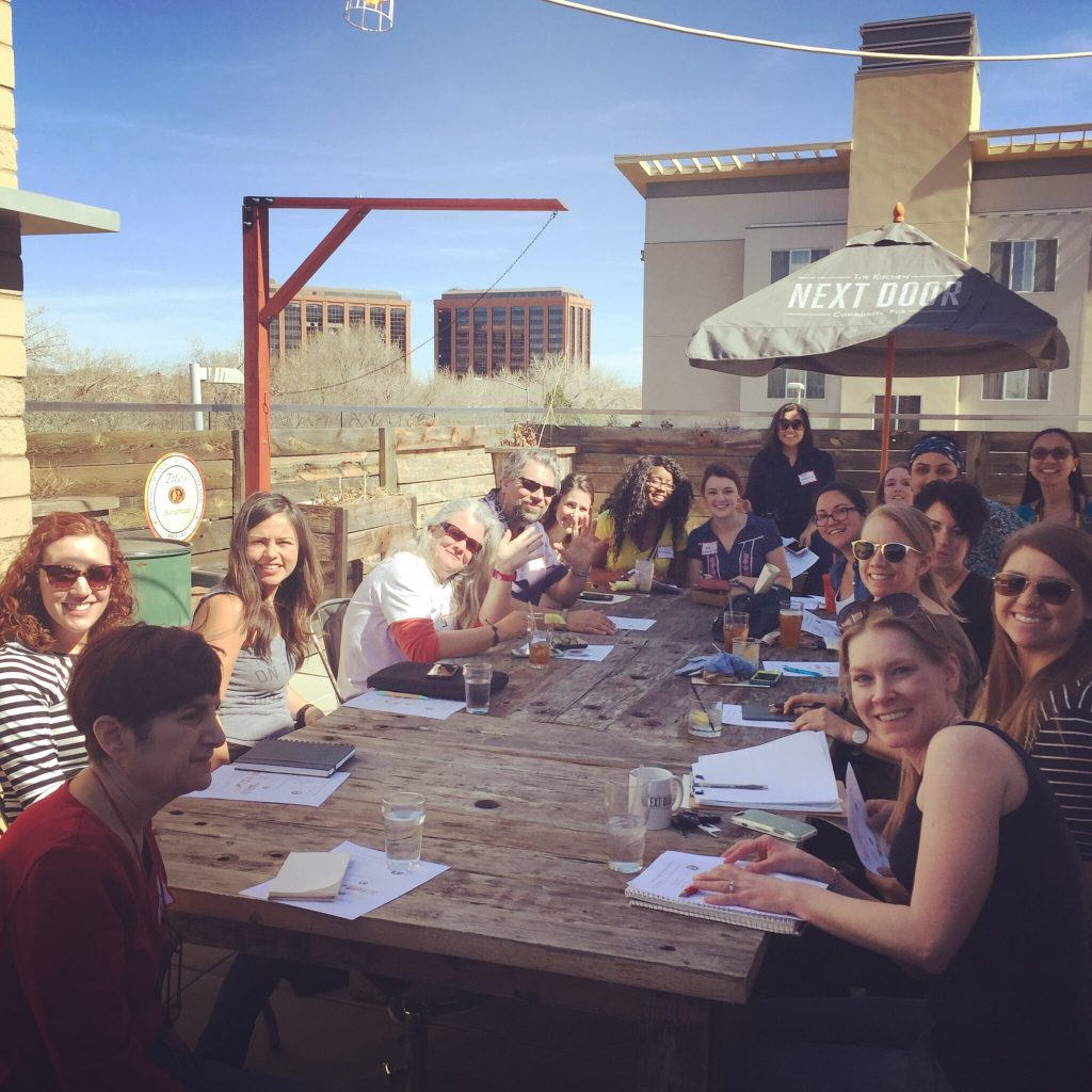 Denver Bloggers Club on rooftop of Next Door Eatery