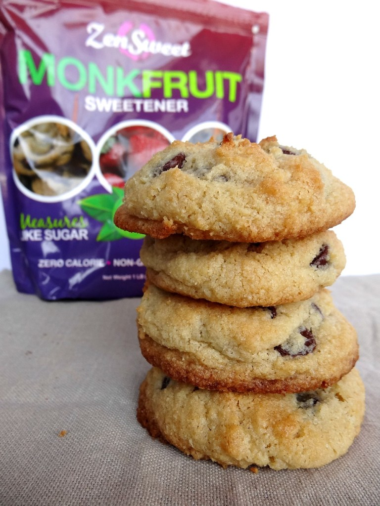 Gluten-Free Almond Flour Chocolate Chip Cookie Sweetened with Monk Fruit 4