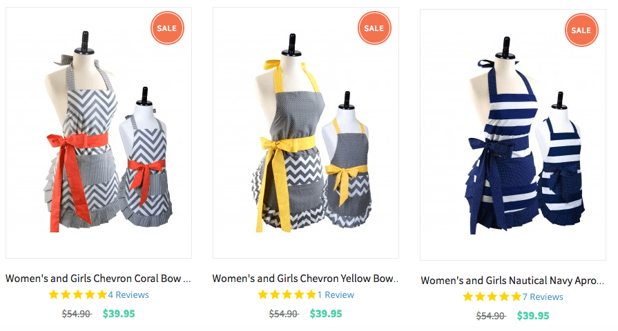 Mother's Day Gift Ideas: mother daughter matching aprons