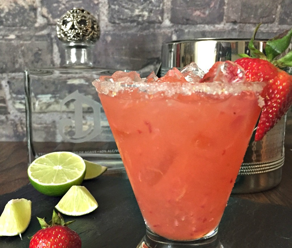 Strawberry Orange Basil Margarita