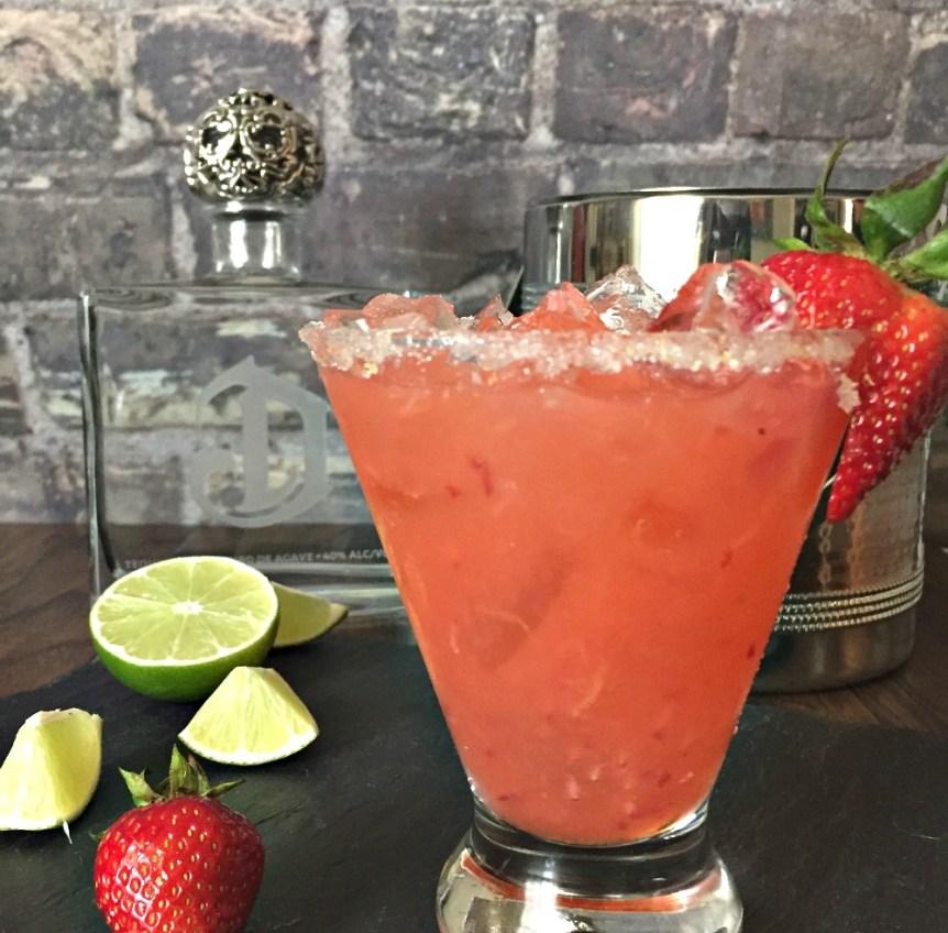 Strawberry Orange Basil Margarita