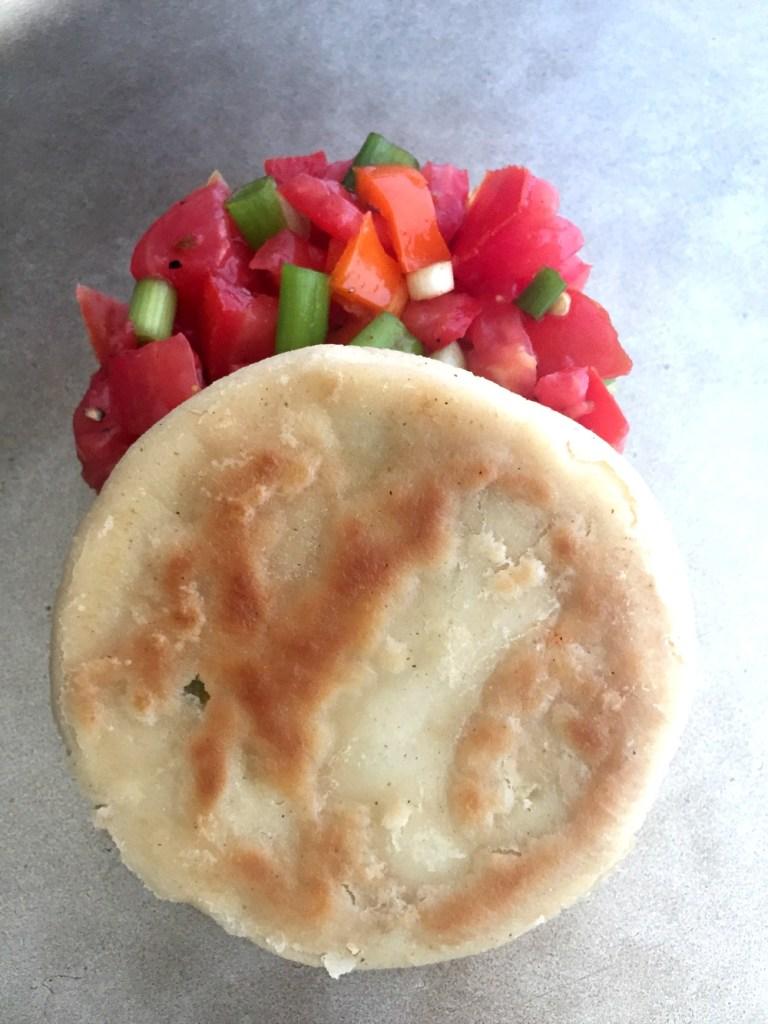 Tres Pupusa with pico