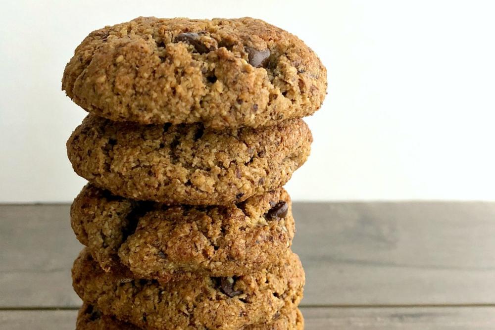 hazelnut flour cookies header