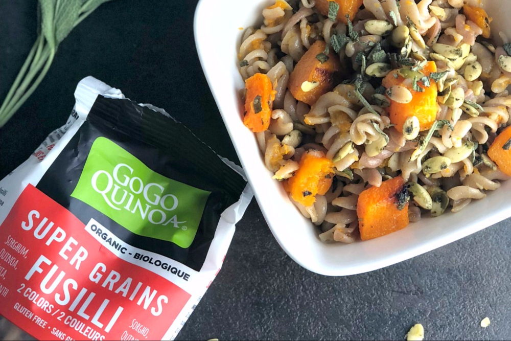 Roasted Butternut Squash, Sage and Quinoa Pasta