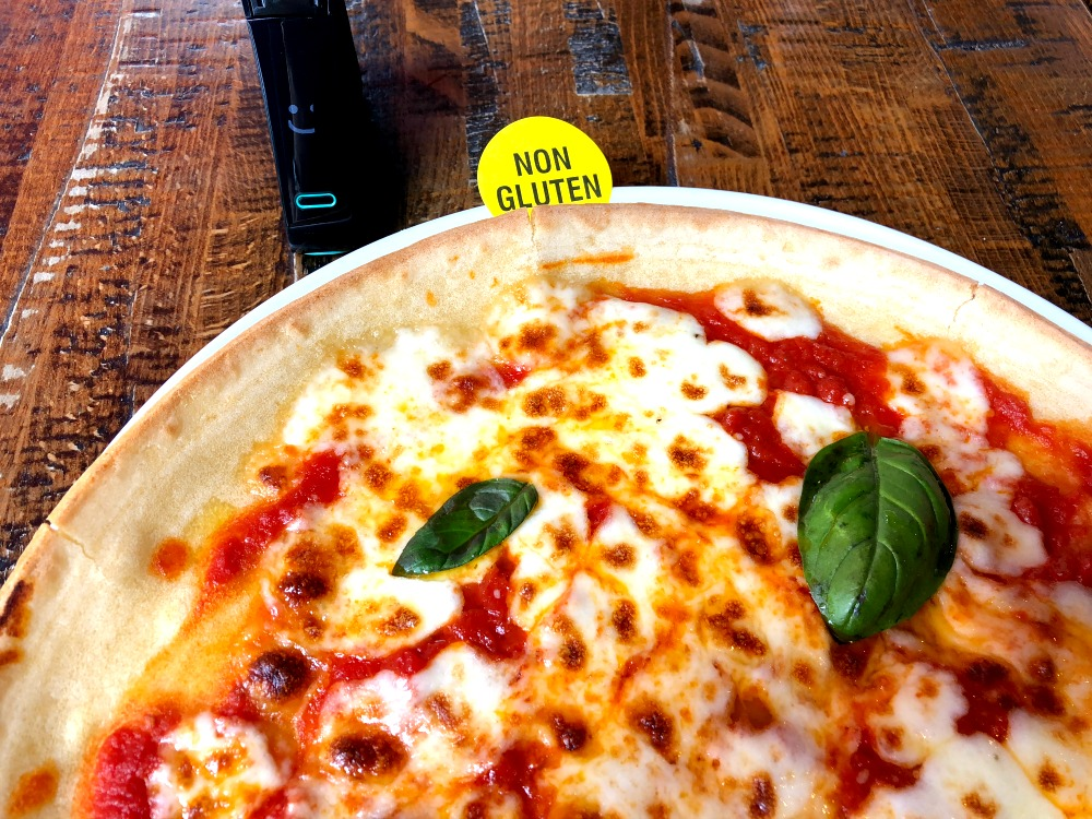 Gluten-free pizza at Zizzi's gluten-free restaurant in London