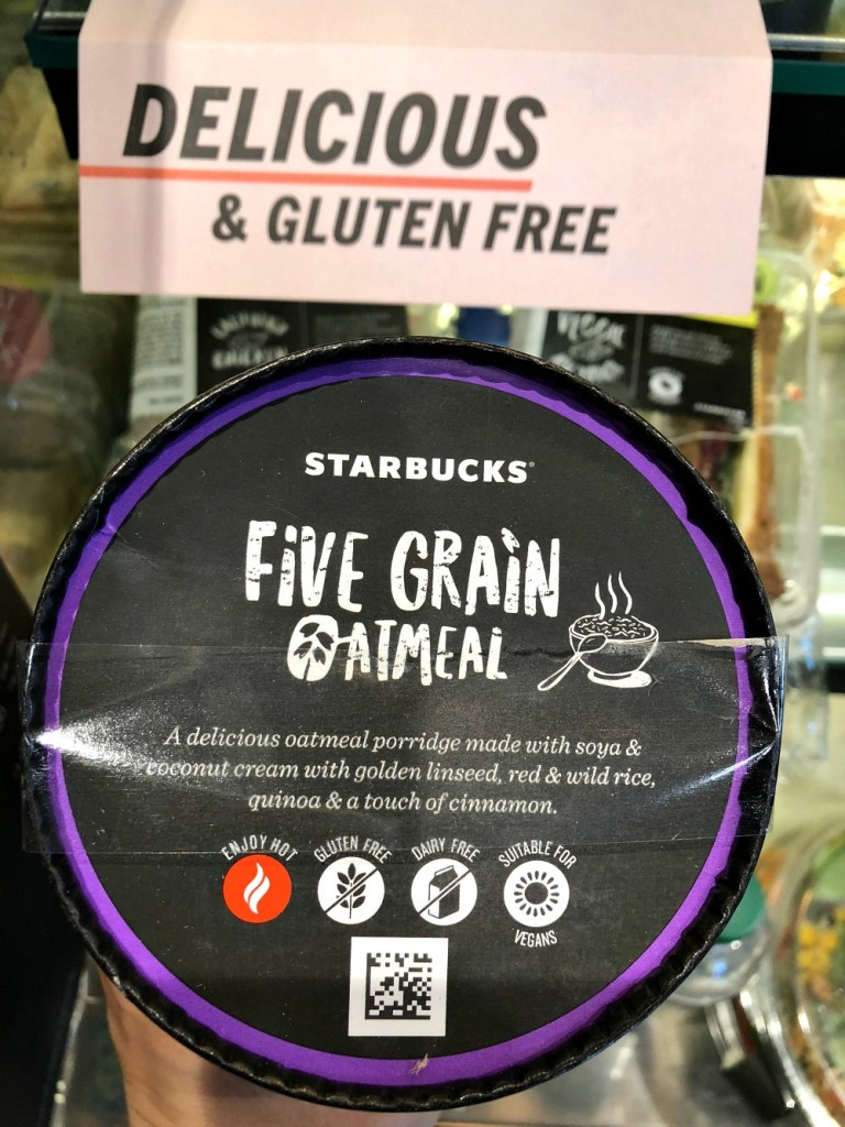 Starbucks gluten-free oatmeal in UK