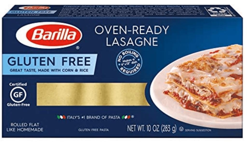 Barilla gluten-free lasagne noodles