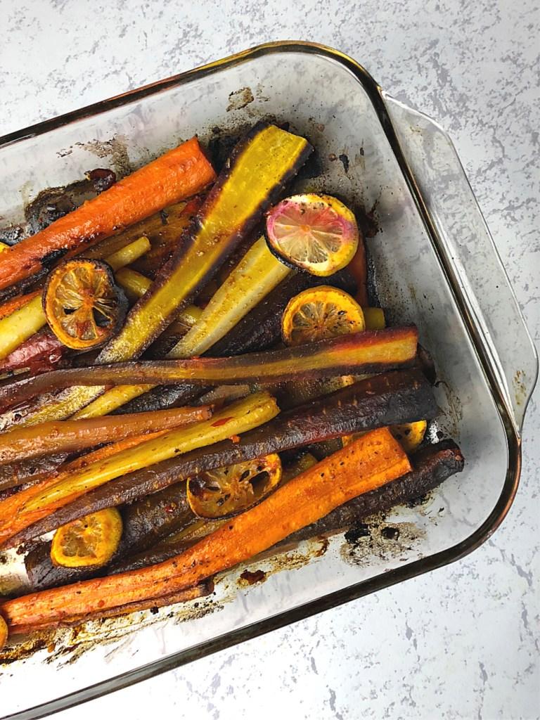 Harissa Roasted Carrots 3