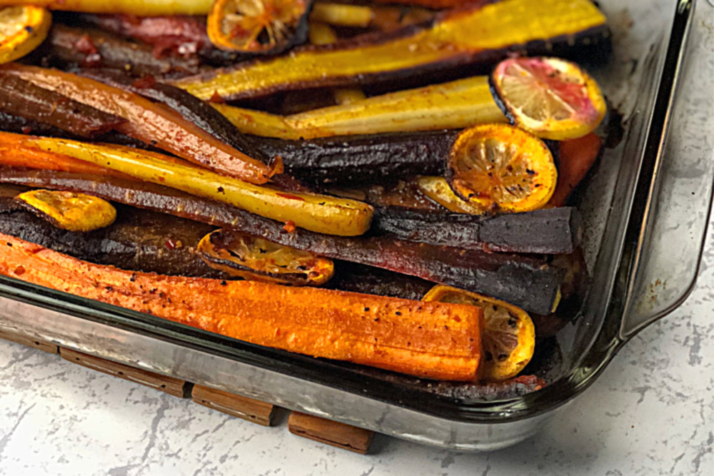 Harissa Roasted Carrots header