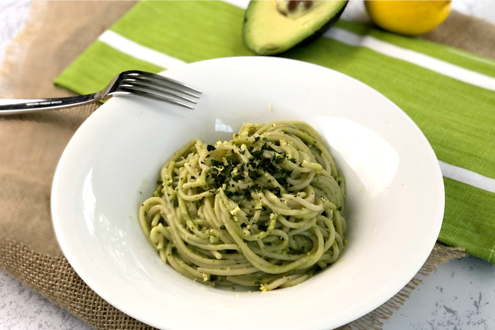 Gluten-Free Avocado Pesto Pasta header