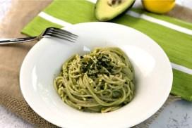 Gluten-Free Avocado Pesto Pasta header