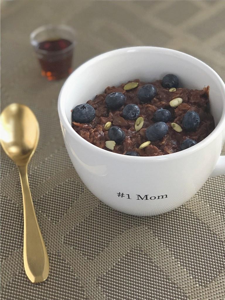 Gluten-Free Chocolate Oatmeal Breakfast 1