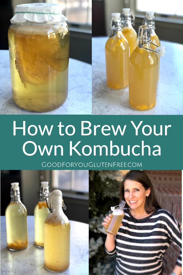 How to Brew Kombucha - Good For You Gluten Free #kombucha #jun #fermentedfoods #fermentedtea #healthygut (1)