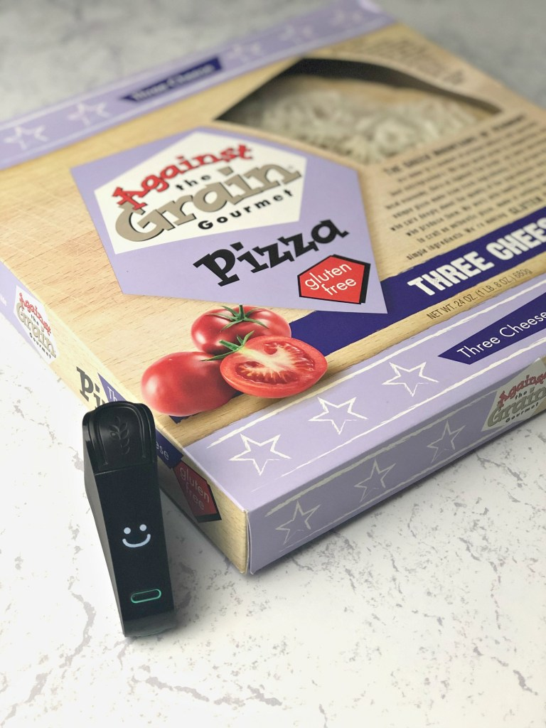 Against the Grain Gourmet Gluten-Free Pizza with Nima Sensor smile