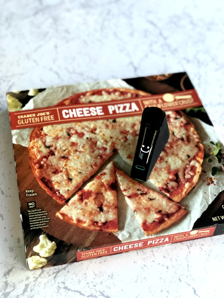 Trader Joe's Gluten-Free pizza with Nima Sensor smile