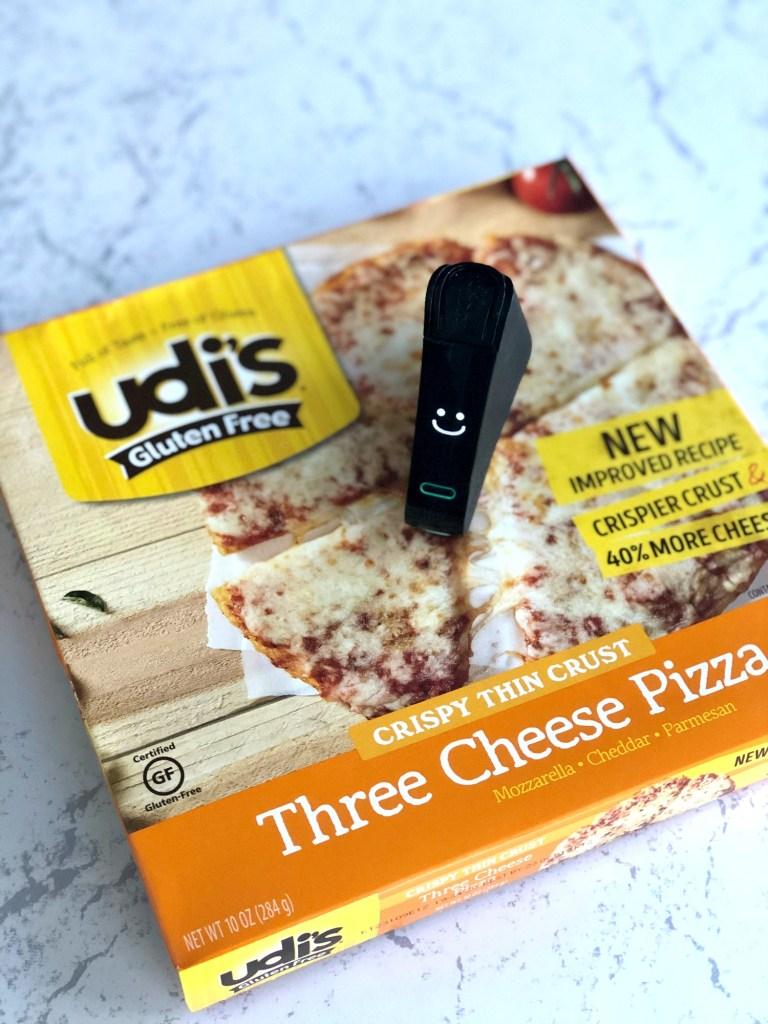 Udis Gluten Free Pizza box with Nima Sensor smile