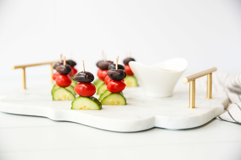 Greek Salad Kabobs gluten-free appetizer header