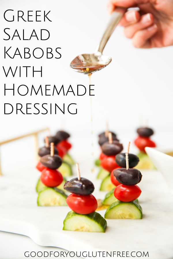 Greek Salad Kabobs with Greek Dressing - Good For You Gluten Free