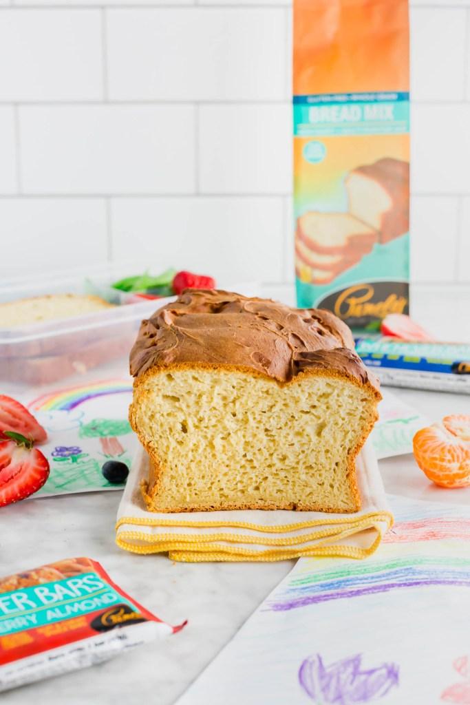 Pamela's sandwich bread mix with sandwich bread made